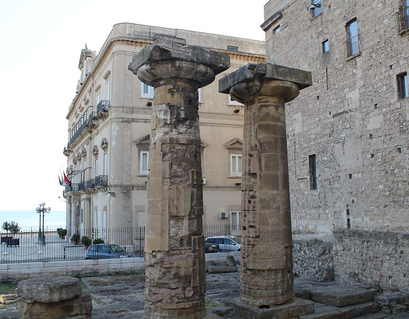 Photo of Greek temple ruis. One Taranto attraction