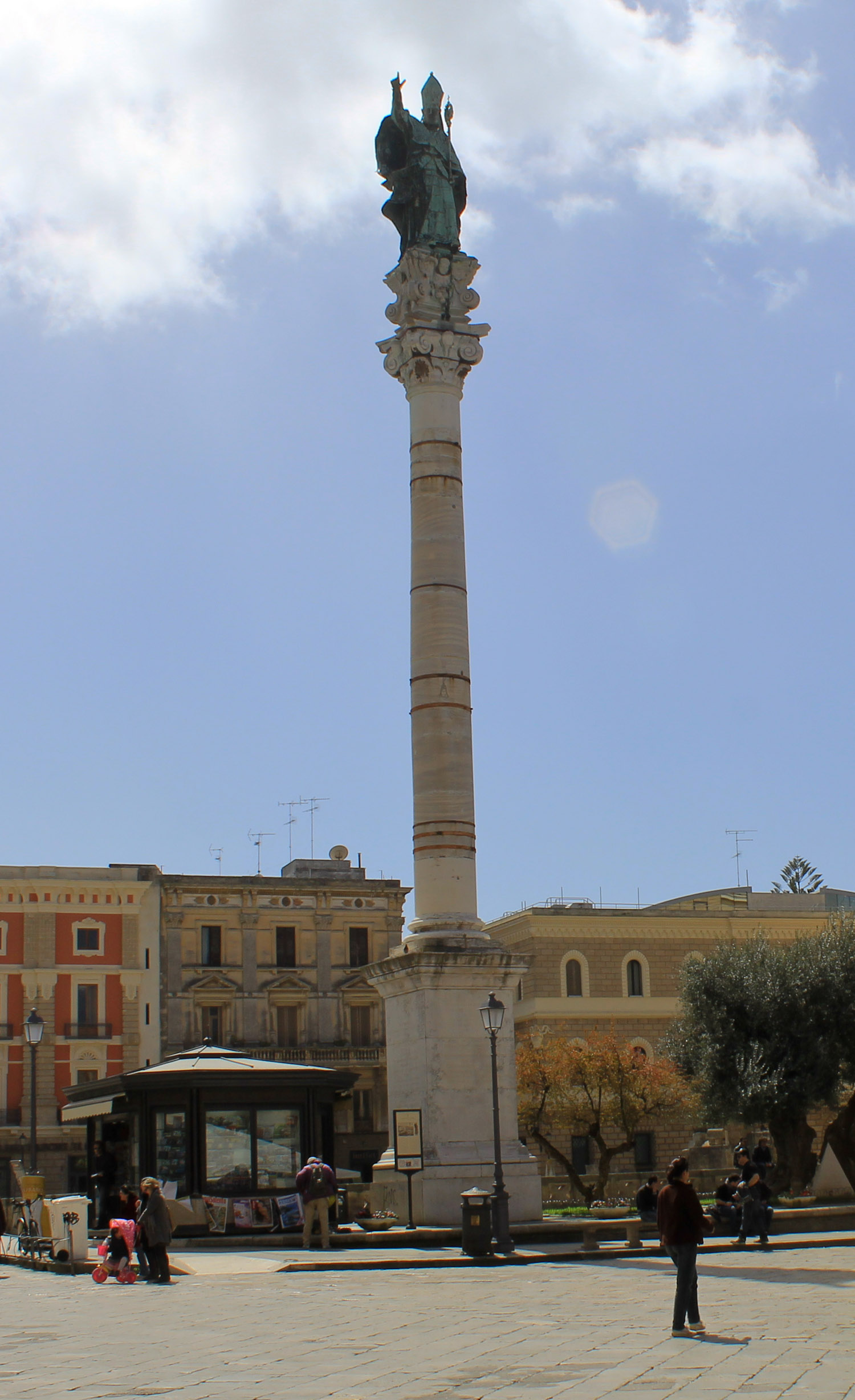 The Lecce column that used to mark the end of the Appian Way in Brindisi