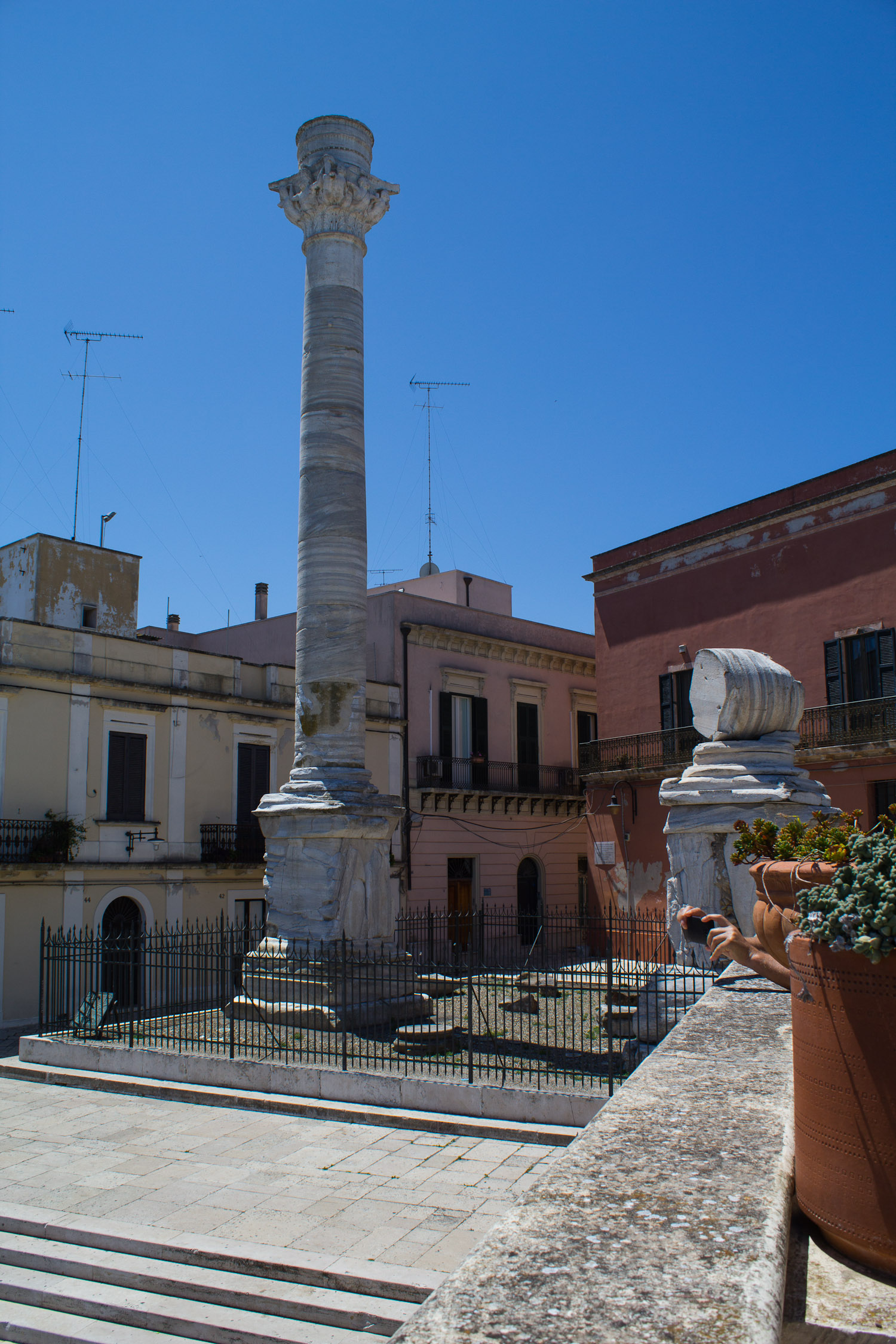 End of the Appian Way in Brindisi