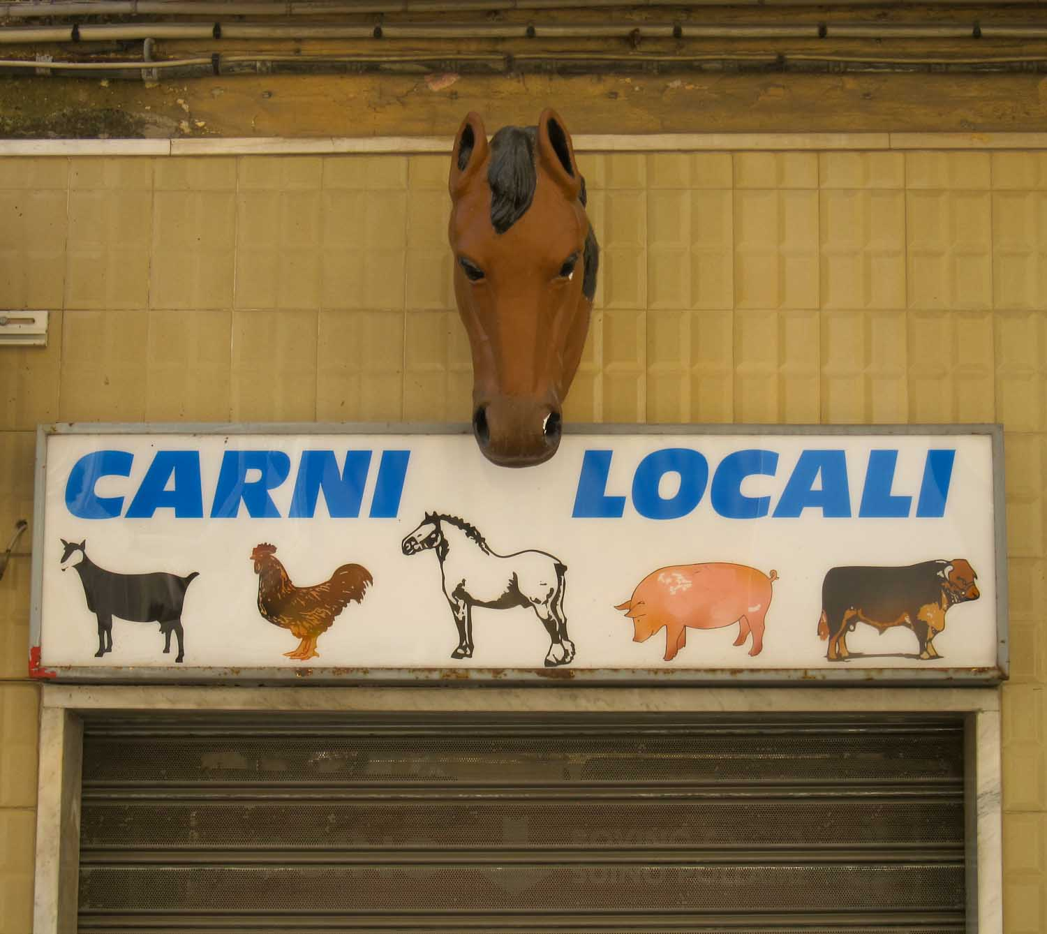 Horse meat butchers in Italy