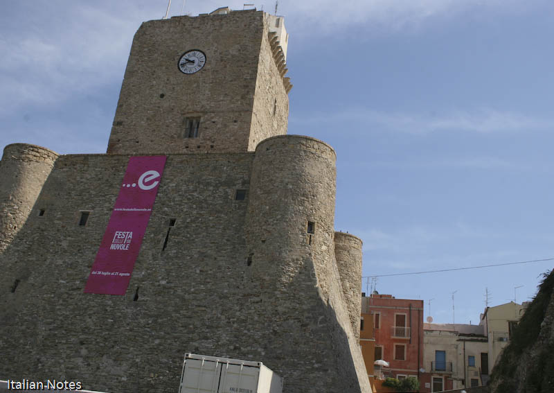 Photo of the castle in termoli italy