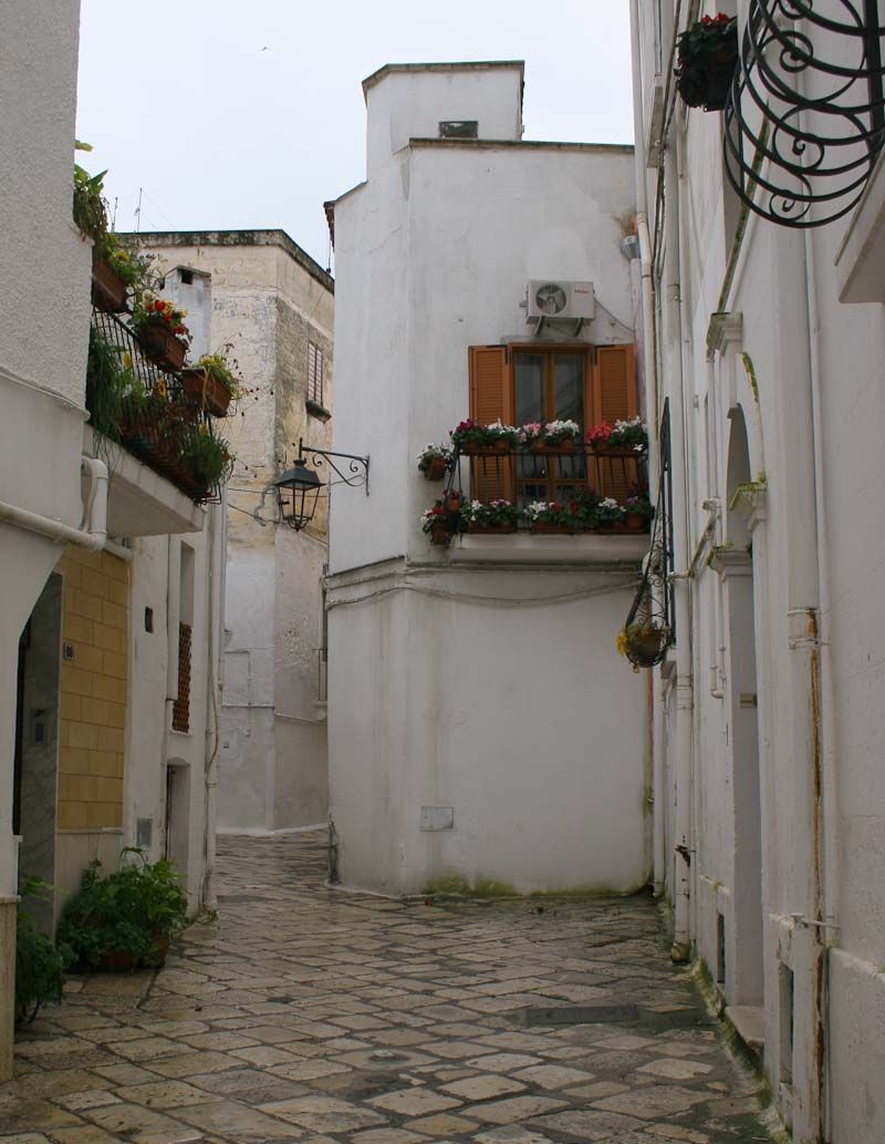 The old centre of Castellaneta in Puglia
