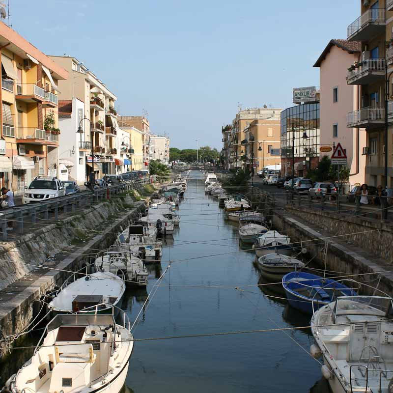 Photo of canal as important aspect of Terracina history