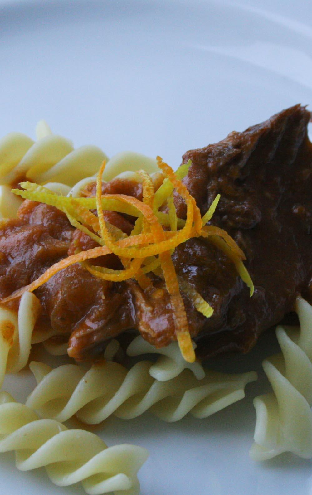 Beef orange stew - Italian Notes