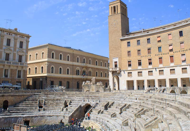 The Roman amphitheater is one of the attractions of Lecce