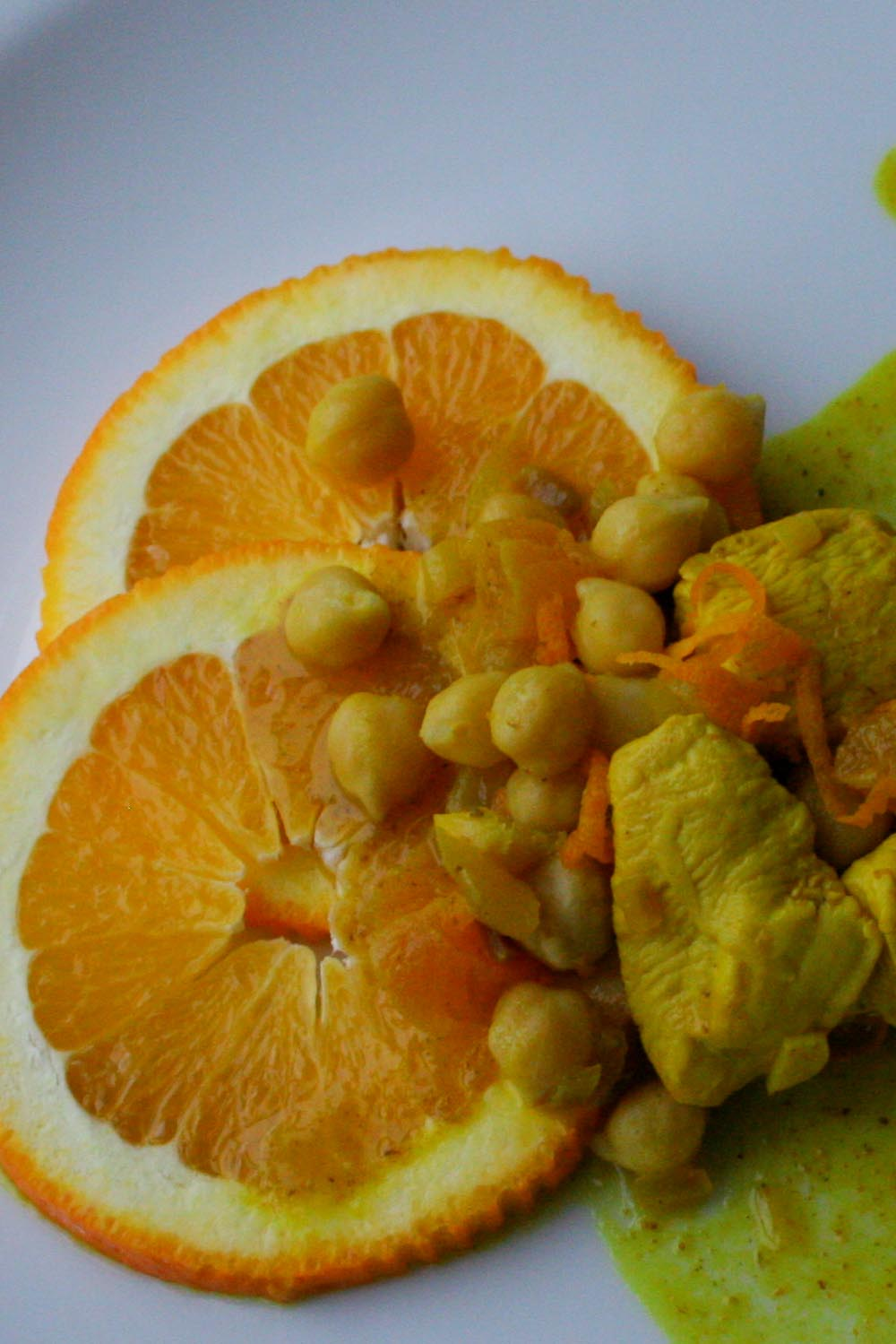 Chicken with chickpeas and oranges - Italian Notes