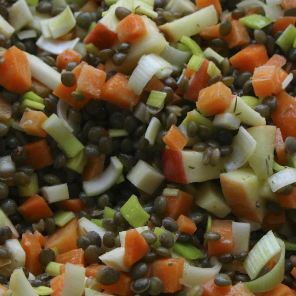 tasty lentil salad