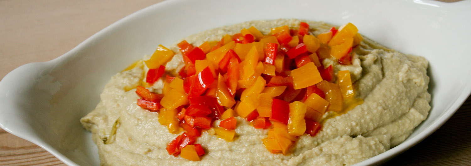 White bean dip with peppers - Italian Notes