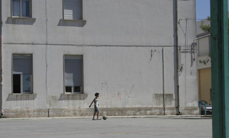 Schoolyard in the concrete side of Italy