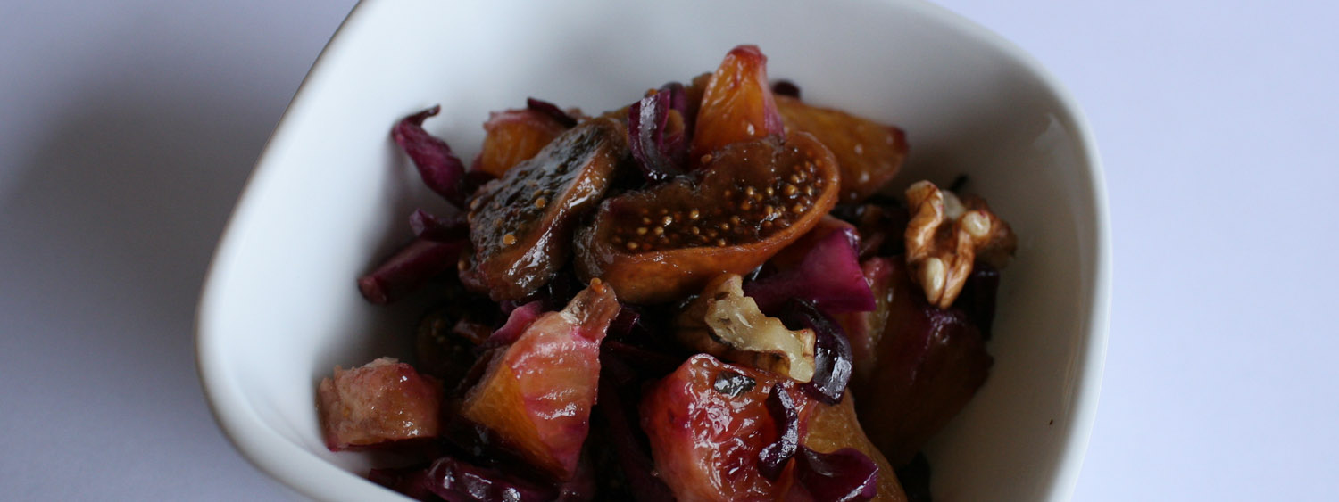 Raw red cabbage salad - Italian Notes