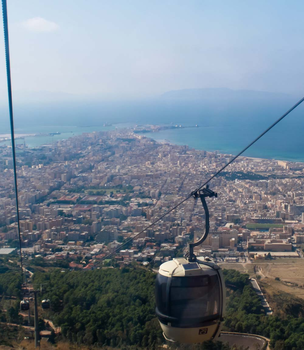 Sipping Marsala wine in Erice - Funicula - Italian Notes