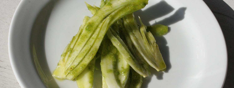 Fennel salad in a green dressing - Italian Notes