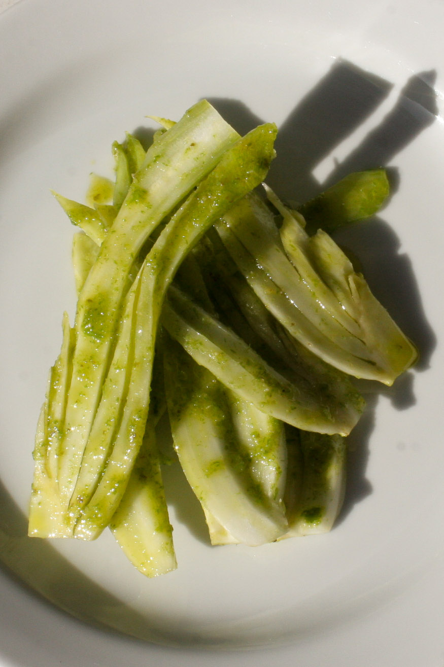Fennel salad in a green dressing - Italian Notes