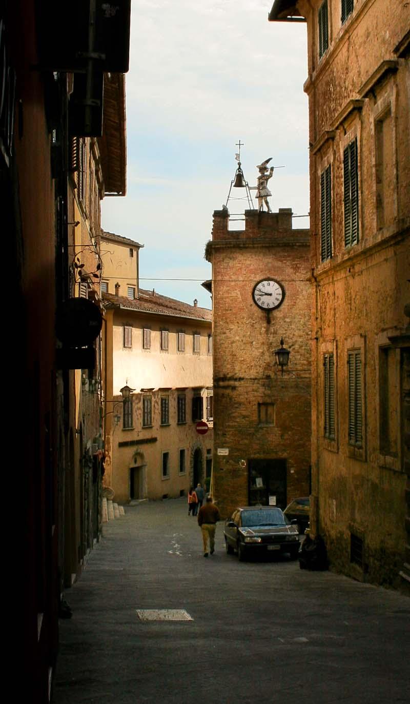 Clock Tower in Montepulciano