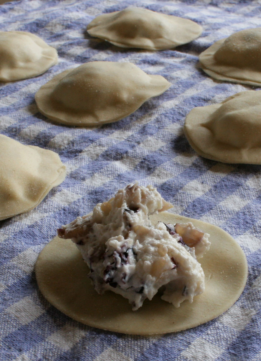 Ravioli with Radicchio Filling - Italian Notes