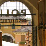 Entrance to the museum of a Grappa Distillery