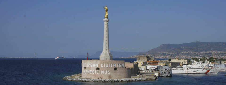 Messina Port and the Blessing of a Golden Madonnina