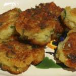 Fried egg and bread dumplings