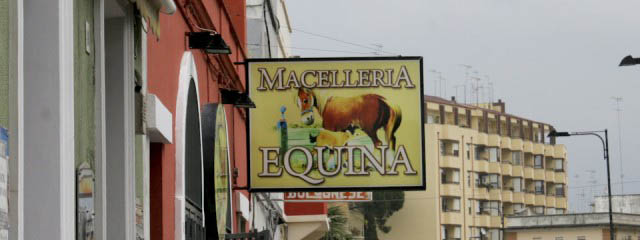 Horse meat butchers