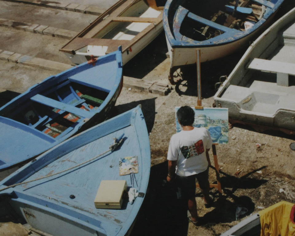 mediterranean blue boats