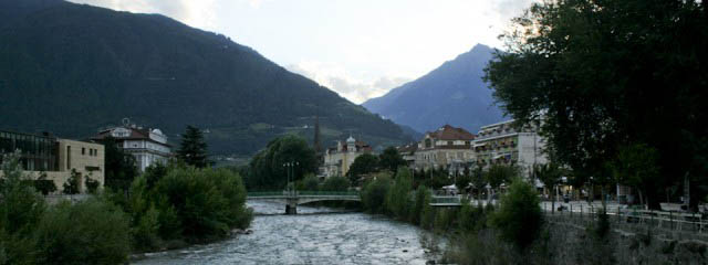 Merano south Tyrol in Italy