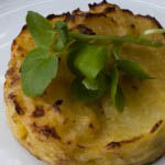 Mustard potato flan - Italian Notes