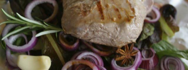 Image of roast lamb with radicchio