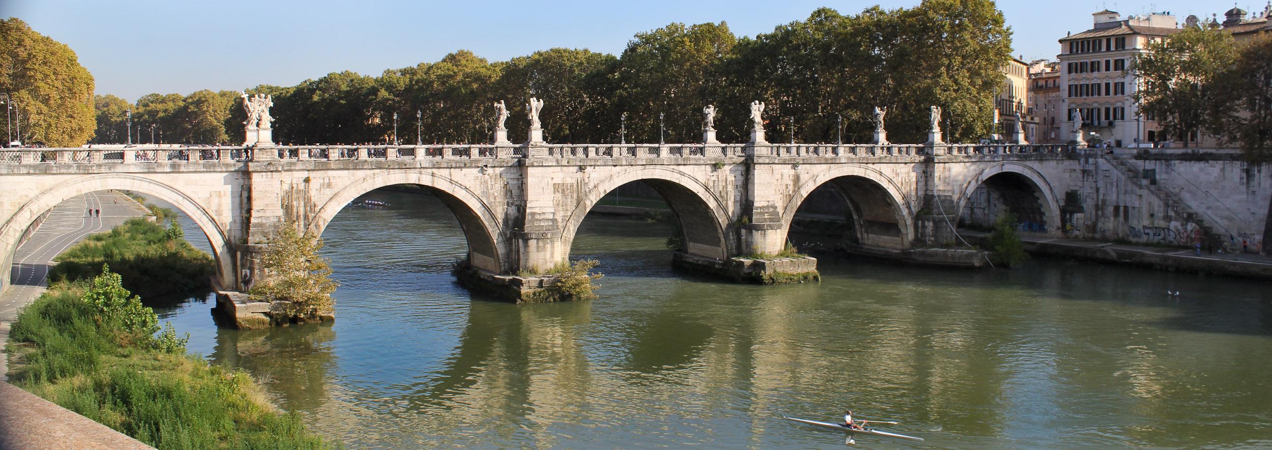 bridges in Rome - Ponte Sant Angelo
