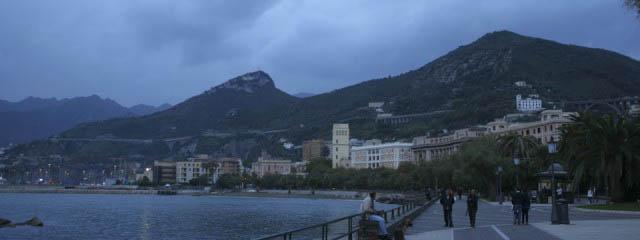 A Salerno promenade by the sea