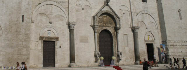 Photo of the chathedral in Bari where the real santa claus is buried