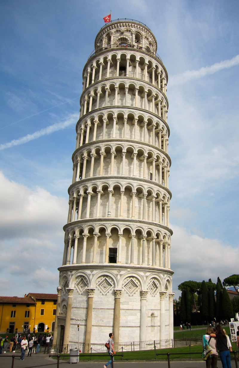 The Leaning Tower on Piazza dei Miracoli in Pisa