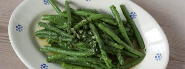 Green beans with anchovies - Italian Notes