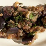 aubergine and onion