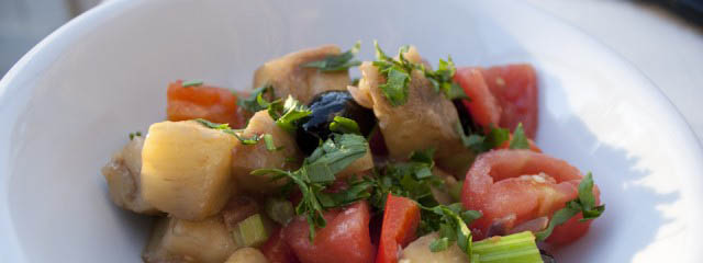 Ciambotta – Aubergine, pepper and potato stew