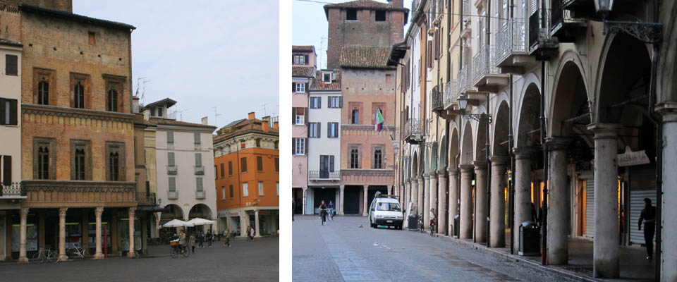 Piazza delle Erbe in Mantova