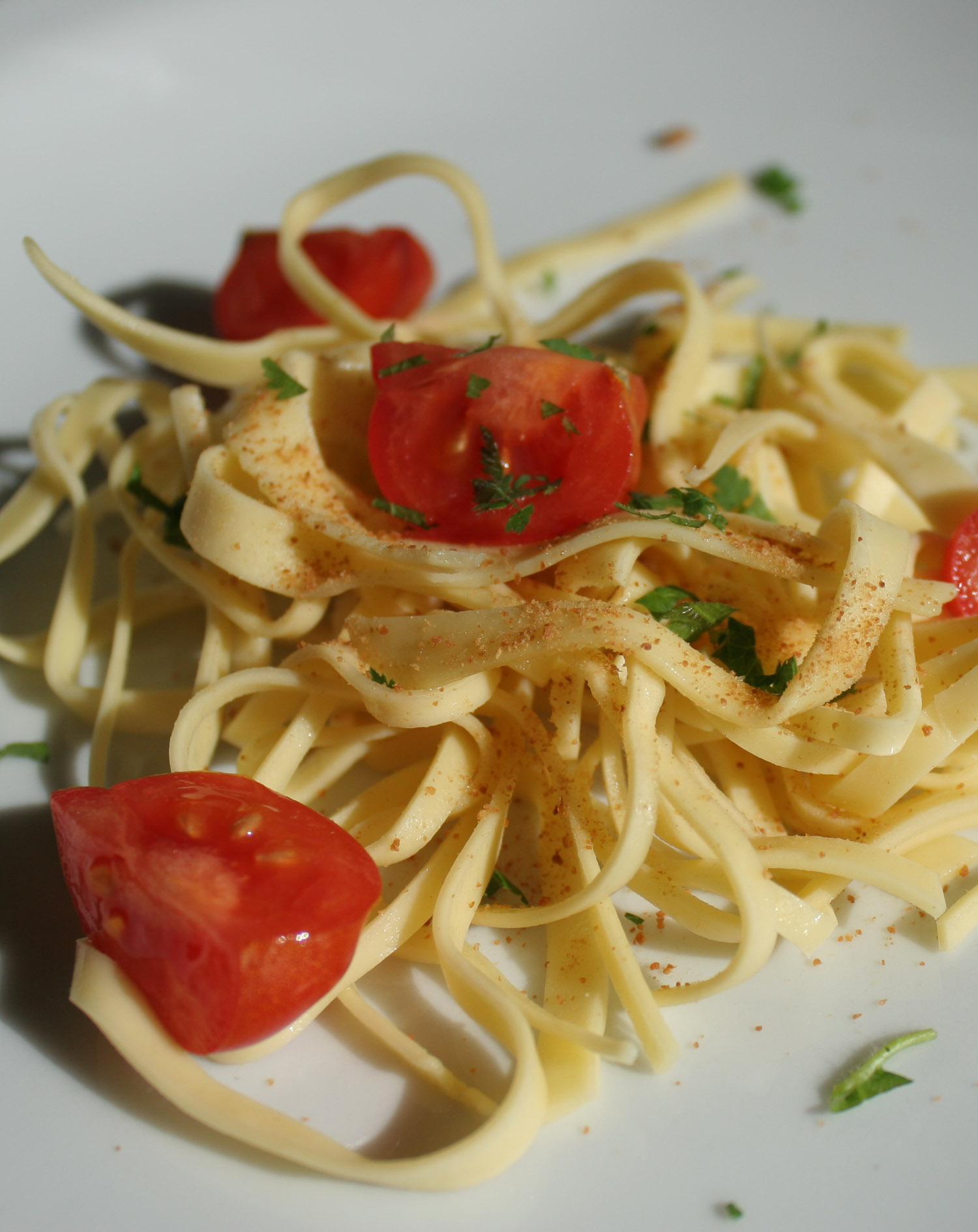 Linguine with bottarga