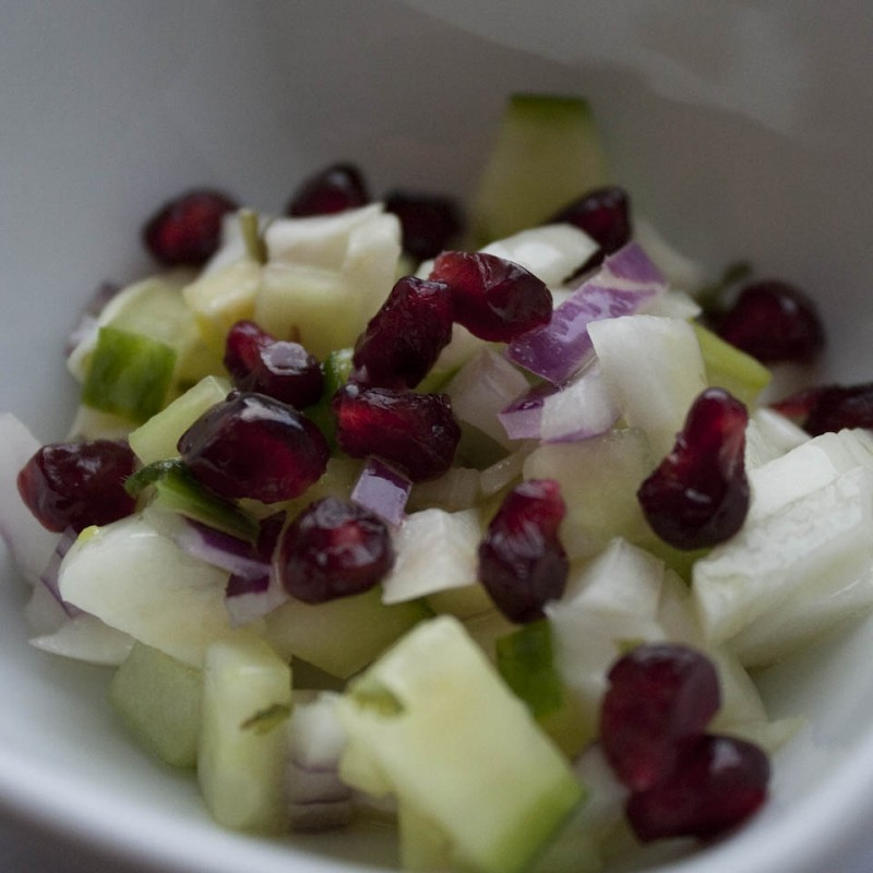Pomegranate salad photo