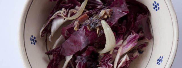 Radicchio and pancetta - Italian Notes