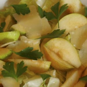 Photo of Salad with pears and pecorino