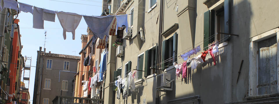 Venice on the clothesline