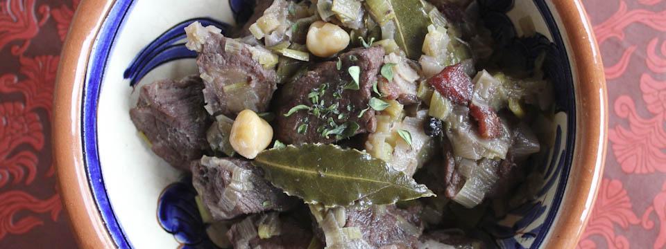 Beef leek stew