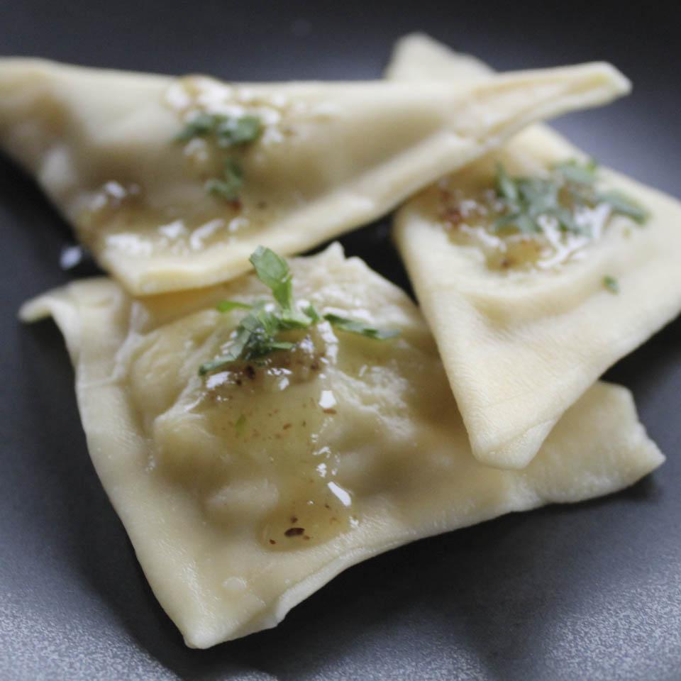 Photo of homemade Pansotti pasta