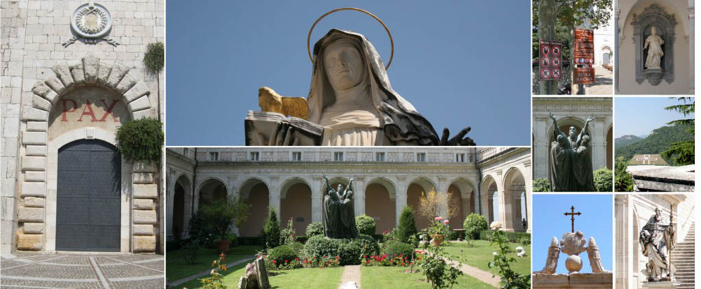 Various images from the Abbey of Monte Cassino