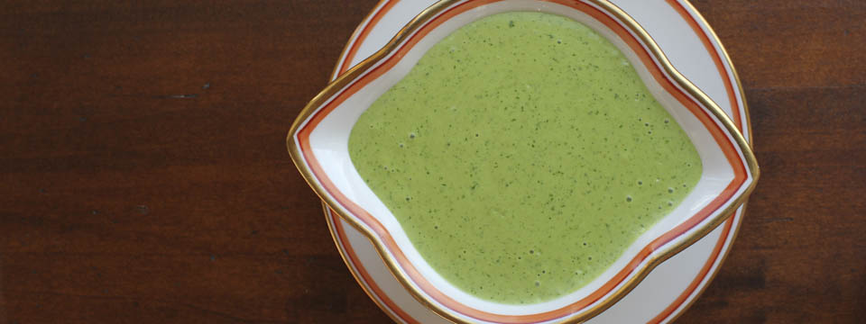 Green sauce for meat and vegetables