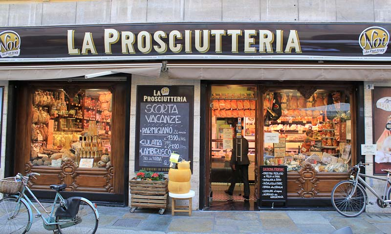 Parma the city of ham and cheese