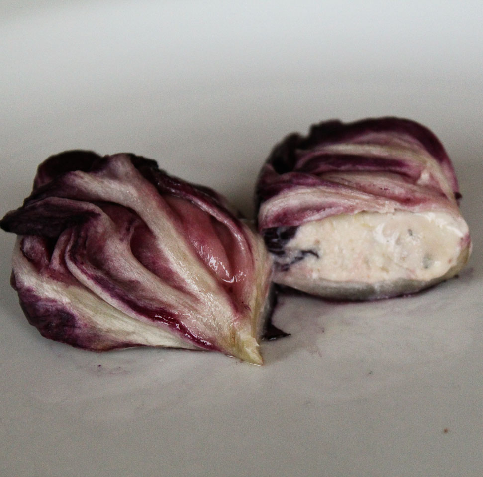 Radicchio walnut rolls