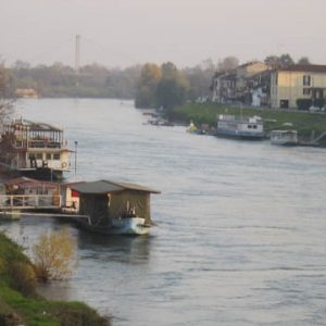 The Ticino river in Pavia