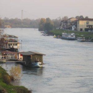 The Ticino river in Pavia