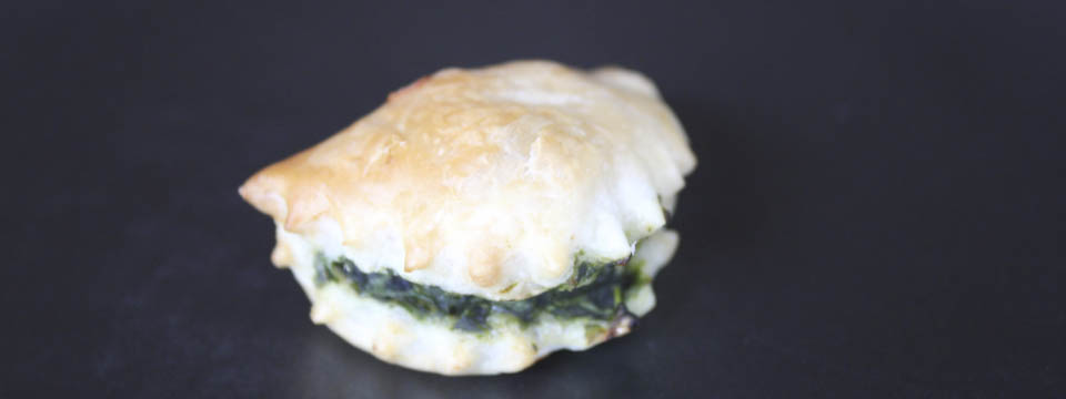 Panzerotti with spinach