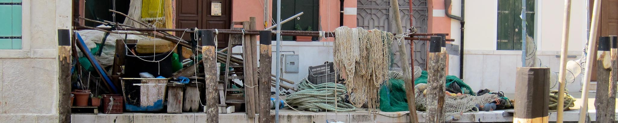 Fishing tackle in Chioggia pantry of Venice